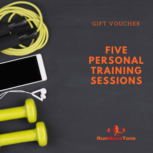 RunMoveTone Personal Training Gift Certificate - 5 sessions