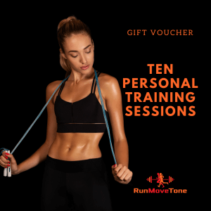 RunMoveTone Personal Training Gift Certificate - 10 sessions