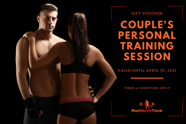 RunMoveTone Personal Training Session (1 x couple) - Gift Certificate