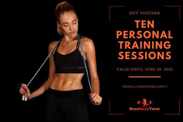 RunMoveTone Personal Training Session (10) - Gift Certificate
