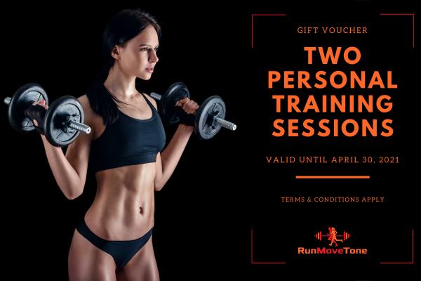 RunMoveTone Personal Training Session (2) - Gift Certificate